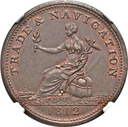 ½ Penny (Trade & Navigation Token) – obverse