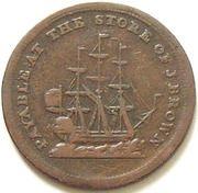 ½ Penny (John Brown, Halifax) – reverse