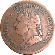 ½ Penny - (George IV) – obverse