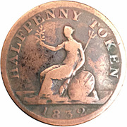 ½ Penny - (George IV) – reverse