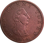 ½ Penny (payable by Carrit & Alport) – obverse