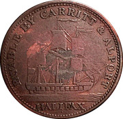 ½ Penny (payable by Carrit & Alport) – reverse