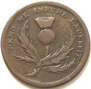 ½ Penny (John Brown, Halifax) – obverse