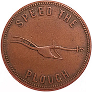 ½ Penny (Speed the Plough) -  reverse