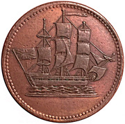 ½ Penny ( Ships colonies & commerce - Bar ampersand) – obverse