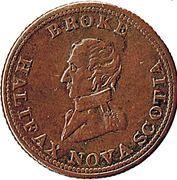 ½ Penny - Halifax  (Captain Broke short bust - Britannia) – obverse