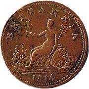 ½ Penny - Halifax  (Captain Broke short bust - Britannia) – reverse