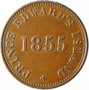 ½ Penny (Prince Edward's Island - Self government and free trade) – obverse