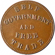 ½ Penny (Prince Edward's Island - Self government and free trade) – reverse