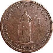 ½ Penny - (Lesslie & sons tokens) – obverse