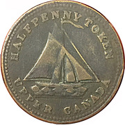 ½ Penny (Sloop Token - Commercial Change - Tools) – obverse