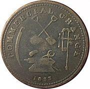 ½ Penny (Sloop Token - Commercial Change - Tools) – reverse