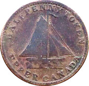 ½ Penny (Sloop Token - To Facilitate Trade) – obverse