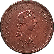 ½ Penny - (Halifax) – obverse
