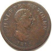 ½ Penny  (Genuine British Copper) – obverse