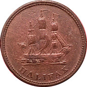 ½ Penny - (Halifax) – reverse