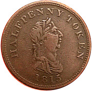 ½ Penny (success to navigation & trade) – obverse
