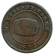 ½ Penny (Payable by Miles W. White) – obverse
