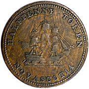 ½ Penny (Commercial change 1815 - Nova Scotia) – reverse