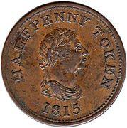 ½ Penny - John Alexr. Barry (Halifax) – obverse