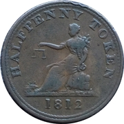 ½ Penny (Thomas Halliday) – reverse