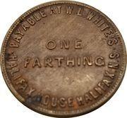 1 Farthing (W.L. White's Halifax House) – obverse