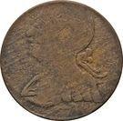 ½ Penny (Regal Imitation - George III left) – obverse