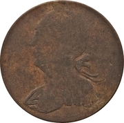 ½ Penny (Regal Imitation - George III left) – obverse