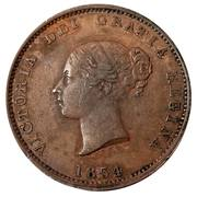 ½ Penny Currency - Victoria – obverse