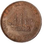 ½ Penny Currency - Victoria – reverse