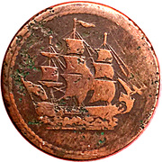 ½ Penny (Imitation  - Ships, Colonies and Commerce) – obverse