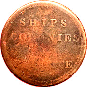 ½ Penny (Imitation  - Ships, Colonies and Commerce) – reverse