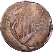 ½ Penny (Imitation - Ships, Colonies and Commerce - Harp Design) – obverse