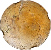 ½ Penny (Imitation Sailing Ship - Laureate Bust) – reverse