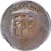 ½ Penny (Imitation Nova Scotia - Warehouse / Script Initials) – obverse