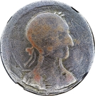 ½ Penny (Imitation Tiffin Token - Seated Commerce / Bust) – obverse