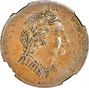 ½ Penny (Bust & Harp - Imitation) – obverse