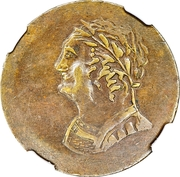 ½ Penny (Imitation Bust and Harp) – obverse