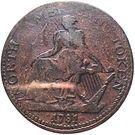 ½ Penny (North American Token) – obverse