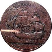 ½ Penny (North American Token) – reverse