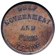 ½ Penny (Prince Edward island - Self government and free trade) – reverse