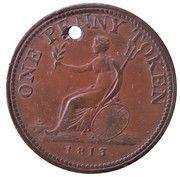 1 Penny Token (Wellington Peninsular token to Vittoria) – reverse