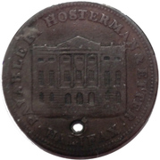 ½ Penny - (Hosterman & Etter) – reverse