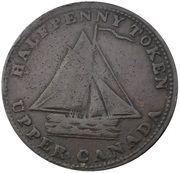 ½ Penny (Sloop Token - Commercial Change, Hunter) – obverse