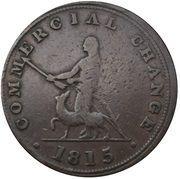 ½ Penny (Sloop Token - Commercial Change, Hunter) – reverse
