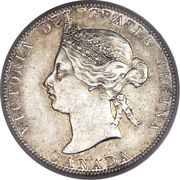 25 Cents - Victoria -  obverse