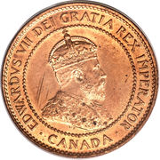 1 Cent - Edward VII -  obverse