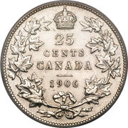 25 Cents - Edward VII -  reverse