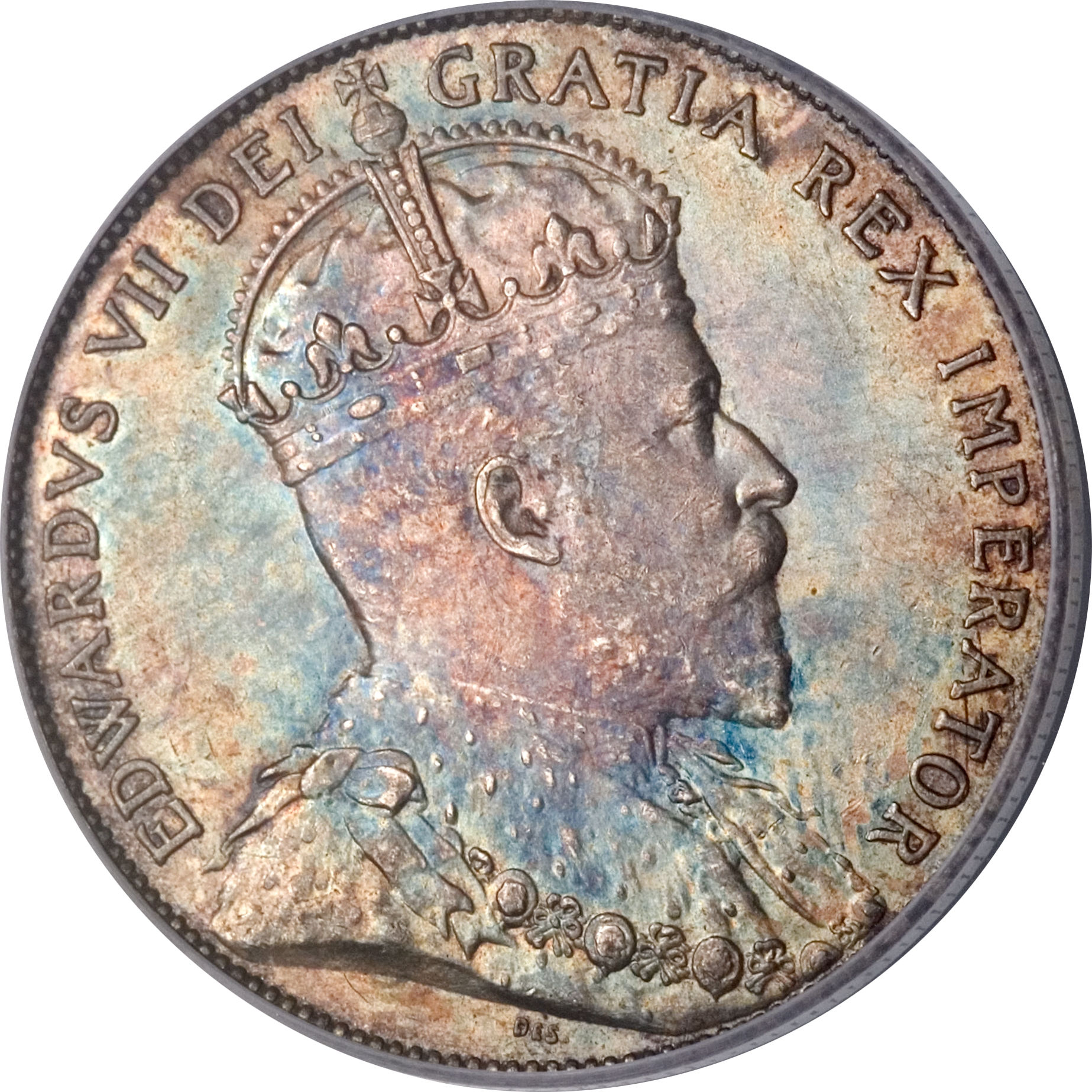 1906 Canadian Circulated One Large Cent Edward VII Coin!