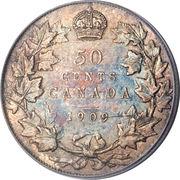 50 Cents - Edward VII (Victorian Leaves) -  obverse